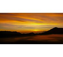 Embers of Dawn, Bromo Indonesia Photographic Print