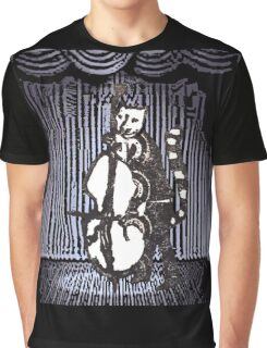 Cat Performs On His Double Bass Graphic T-Shirt