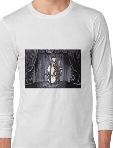 Cat Performs On His Double Bass Long Sleeve T-Shirt