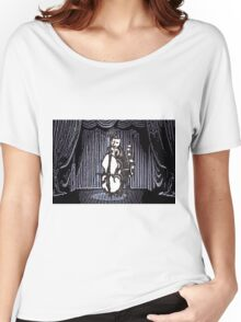 Cat Performs On His Double Bass Women's Relaxed Fit T-Shirt