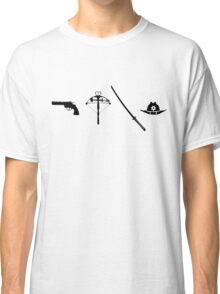Gun, Crossbow, Sword and Hat Classic T-Shirt