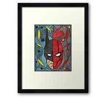 Bat and Hood Framed Print