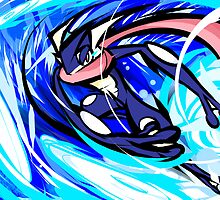 Greninja | Water Shuriken by ishmam
