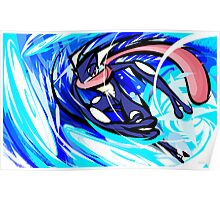 Greninja | Water Shuriken Poster