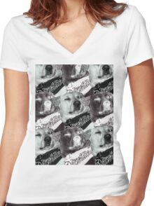 Checker Buddy Women's Fitted V-Neck T-Shirt
