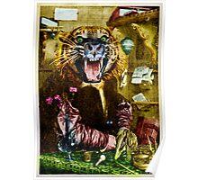Tiger Tiger Burning Bright ~ Whisker Wings. Poster