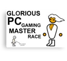 Glorious PC Master Race Shirt Transparent Edition! Canvas Print
