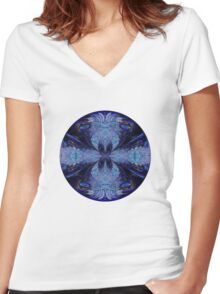 The Deep Blue Women's Fitted V-Neck T-Shirt