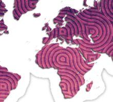 World Map Sticker Sticker