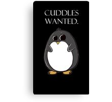 penguin poster  Canvas Print