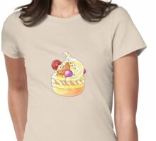 Yellow Cupcake Womens Fitted T-Shirt