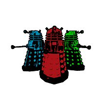 Daleks (Multicoloured!) by Cosmodious