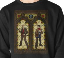 Arthur & Merlin stained glass Pullover