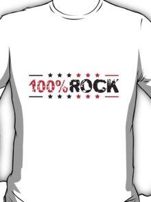 Cooler 100% Rock Stempel Style T-Shirt