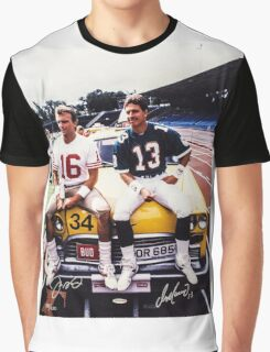 Dan Marino Joe Montana Graphic T-Shirt