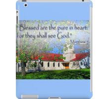 Matthew 5:8 iPad Case/Skin