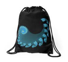 Blue Spiral Drawstring Bag