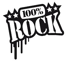 100% Rock Text Graffiti Design by Style-O-Mat