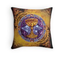 The Grail (Parchment color) Throw Pillow