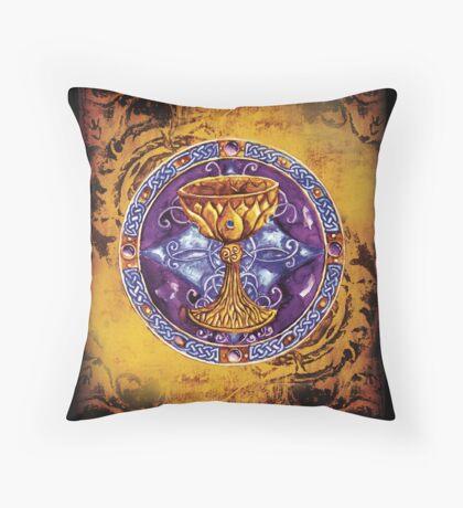 The Grail (Parchment color) Throw Pillow