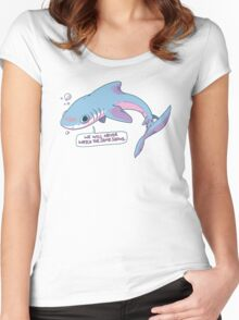 We Will Never Watch the Same Shows Women's Fitted Scoop T-Shirt