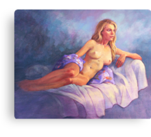Joanna Reclining Canvas Print