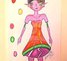 Contemporary Fashion Illustration of Dior 1 by jonkaniafashion