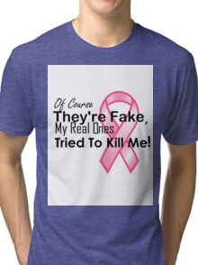 Breast Cancer shirt Tri-blend T-Shirt