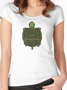 Ninja Turtle Mikey Women's Fitted Scoop T-Shirt