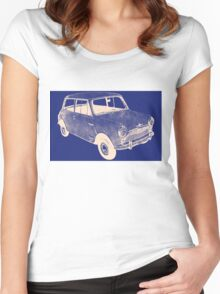 morris mini saloon Women's Fitted Scoop T-Shirt
