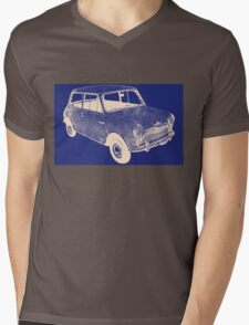 morris mini saloon Mens V-Neck T-Shirt