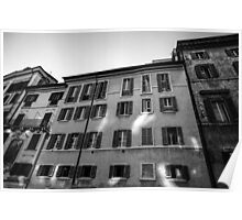 Buildings of Rome Poster