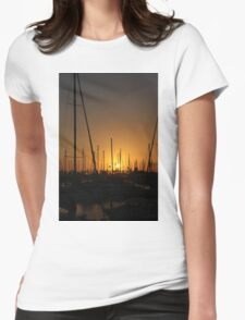 Masts and Palm Trees Womens Fitted T-Shirt