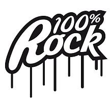 100% Rock Graffiti Logo by Style-O-Mat