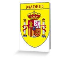Madrid Shield of Spain II  Greeting Card