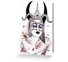 Demon Empress Greeting Card
