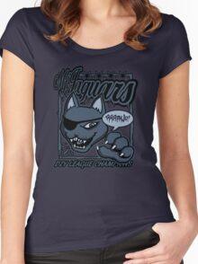 M.F Jaguars Blue Women's Fitted Scoop T-Shirt