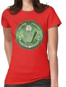 Human Liberation The great seal Inverted - aged retro T- Shirt Womens Fitted T-Shirt