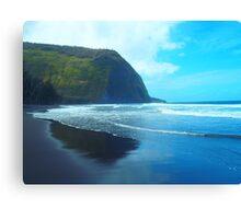 Waipio Valley Hawaii scenic print Canvas Print