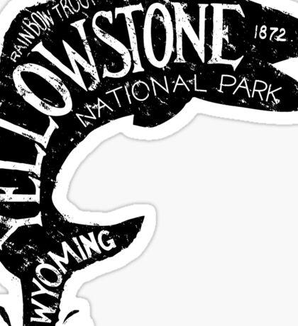 Yellowstone Fishing Sticker