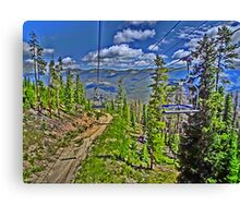 Winter Park Colorado scenic vivid print Canvas Print