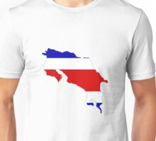 Costa Rica Flag Map Unisex T-Shirt