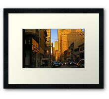 Sutter Street Downtown Framed Print