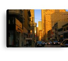 Sutter Street Downtown Canvas Print