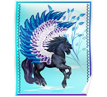 Blue Winged Pegasus Poster