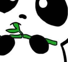 Panda Eating Bamboo Sticker