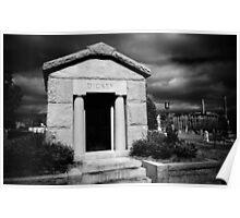 Dickey Mausoleum, Historic Oakland Cemetery, Atlanta, Ga Poster