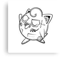 Jigglypuff de los Muertos   Pokemon & Day of The Dead Mashup Canvas Print