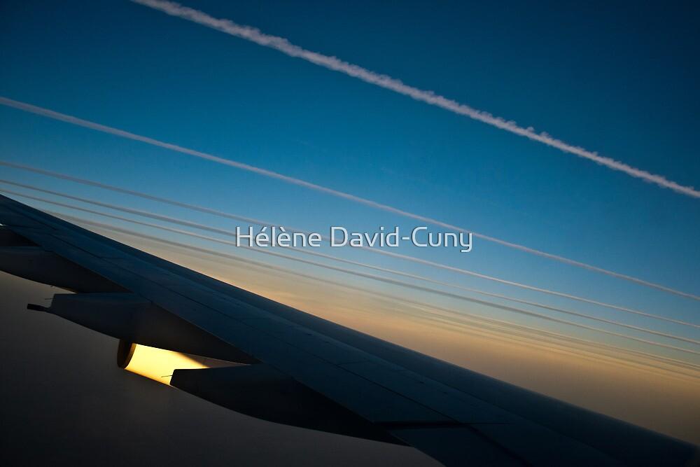 Air traffic lanes by Hélène David-Cuny