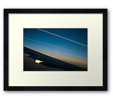 Air traffic lanes Framed Print